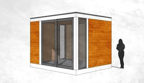 Greenbox habitaciones prefabricadas para el jard n for Cobertizos prefabricados metalicos