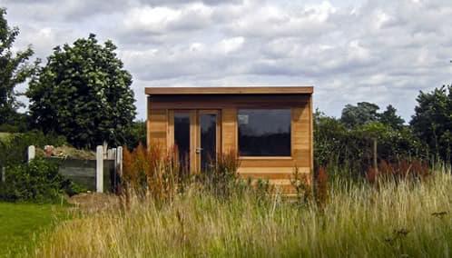 habitación prefabricada de madera para el jardín