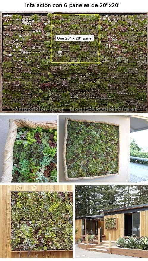 sistema modular pana jardines verticales