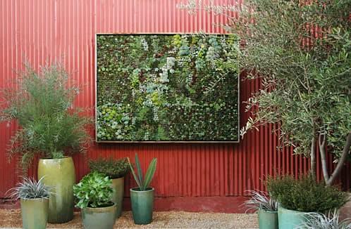 jardin-vertical con paneles modulares