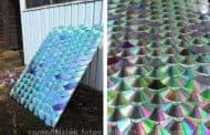 Reciclar CDs y DVDs para tejados