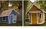 Casas de madera para juego de niños