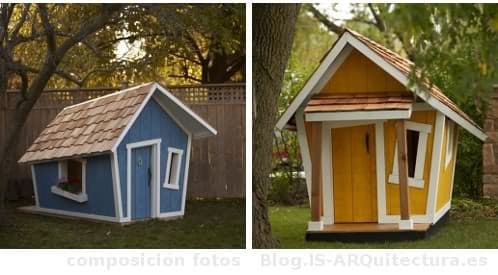 Casita infantil prefabricada de madera y configurable for Casitas de jardin para ninos