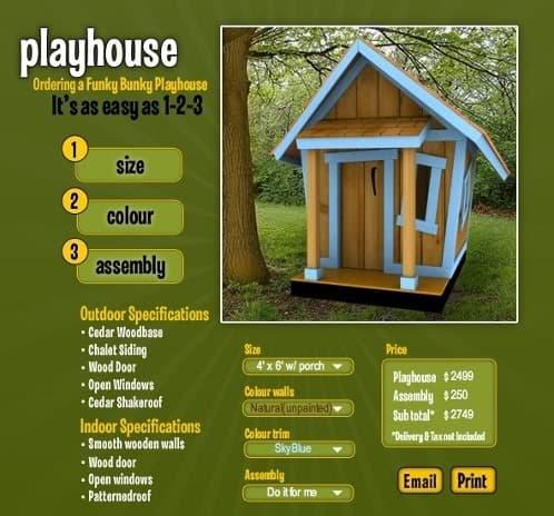 Casita infantil prefabricada de madera y configurable - Casa infantiles de madera ...