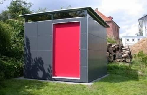 Gardomo cobertizos de fachada ventilada para el jard n for Cobertizos prefabricados