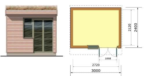 Oficina prefabricada de tor garden for Oficina prefabricada