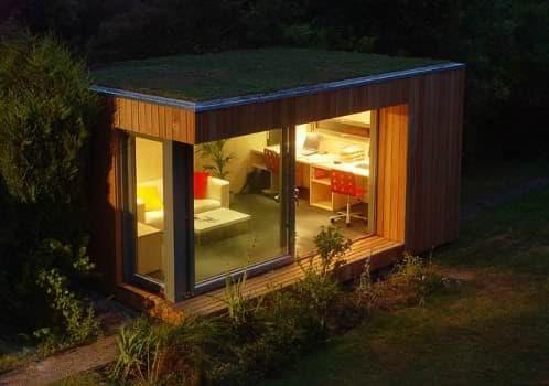 Estudios prefabricados para el jard n de ecospace for Cobertizos prefabricados