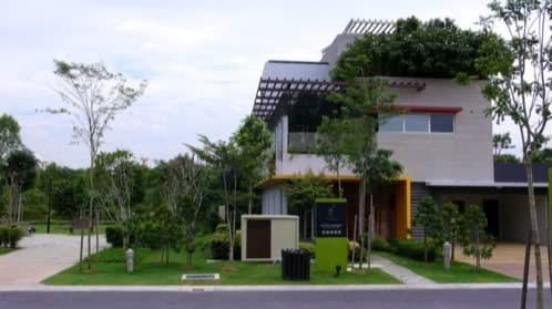 vivienda con cubiertas verdes ajardinadas