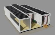 Ecogaria: casa solar con contenedores