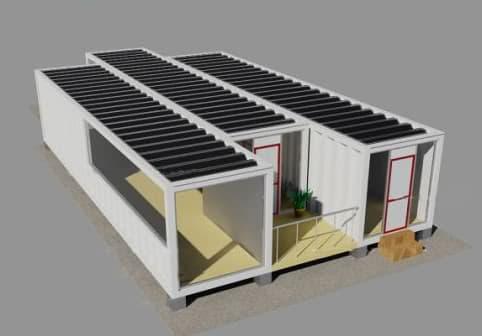 ecogaria casa solar con contenedores