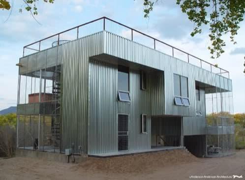 Casa abiquiu prefabricada con animalario - Casas prefabricadas metalicas ...