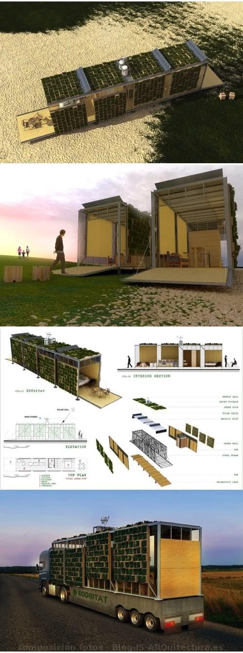 ECObitat, modulo prefabricado con fachadas vegetales