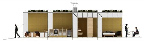 ECObitat prefabricada con fachada vegetal