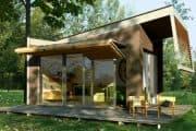 Moderna cabaña para el jardín
