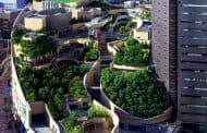 Namba Parks: 'cascada verde' en las azoteas