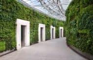 Jardín vertical en unos baños de Vancouver