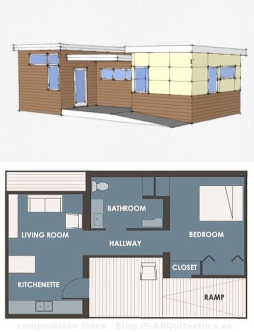 casa prefabricada de 50m2