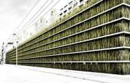 Aparcamiento urbano con jardín en la azotea