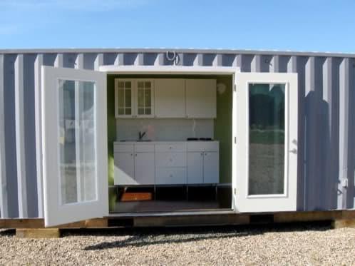 Casas prefabricadas de contenedores de carga leed cabins - Como hacer una casa con un contenedor maritimo ...