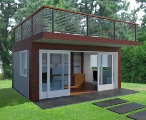 Oficina Prefabricada Con Terraza En Azotea - Caseta-para-terraza