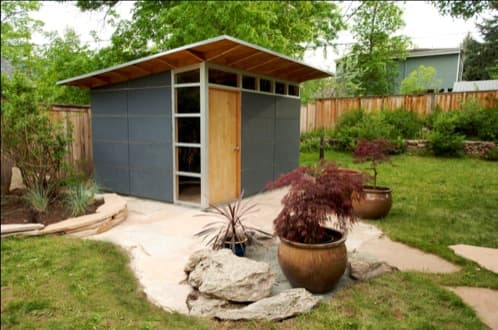 Casetas prefabricadas de studio shed configurables en la web for Cobertizos prefabricados