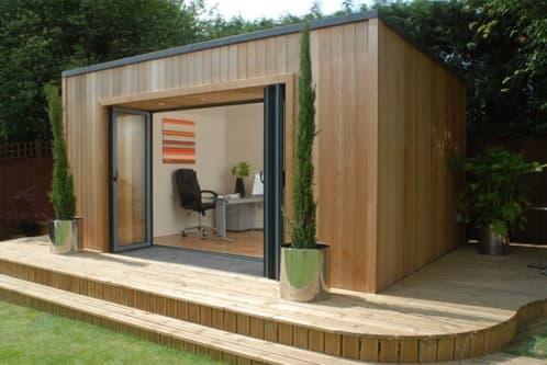 Modernas casetas prefabricadas en madera de cedro the qube - Casetas de campo prefabricadas ...