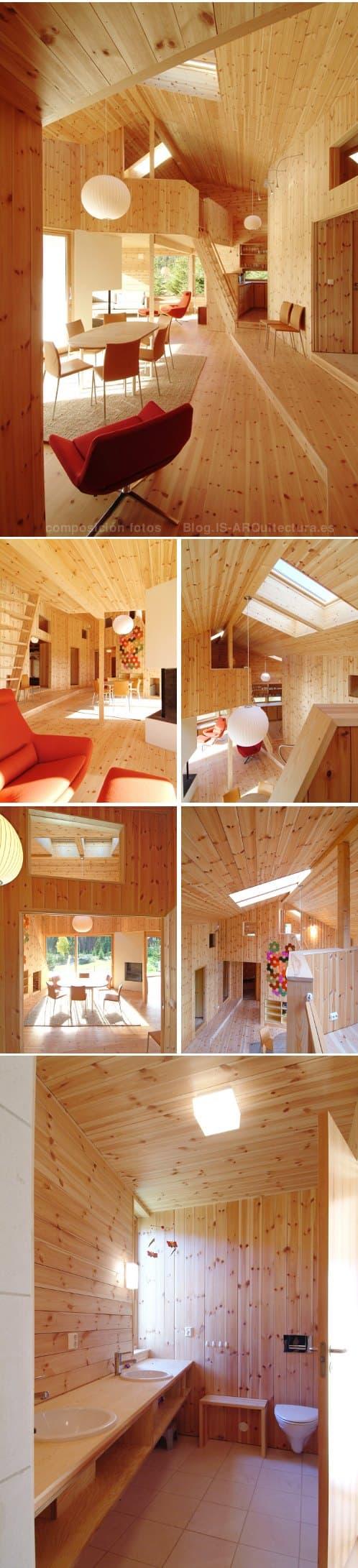 nordmarka-cabaña-madera-noruega fotos del interior