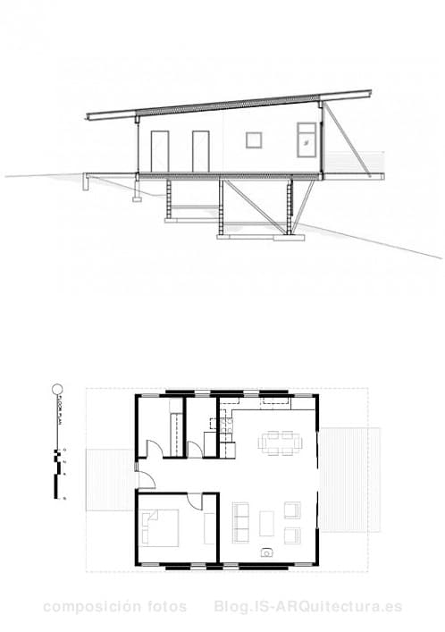 planos-cabana-madera-y-hormigon