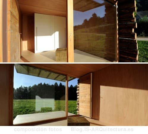 refugio-minimalista-madera-yeta fotos del interior