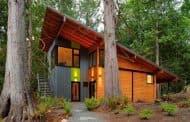 Cabaña Wheeler: hecha con los árboles caídos por las tormentas