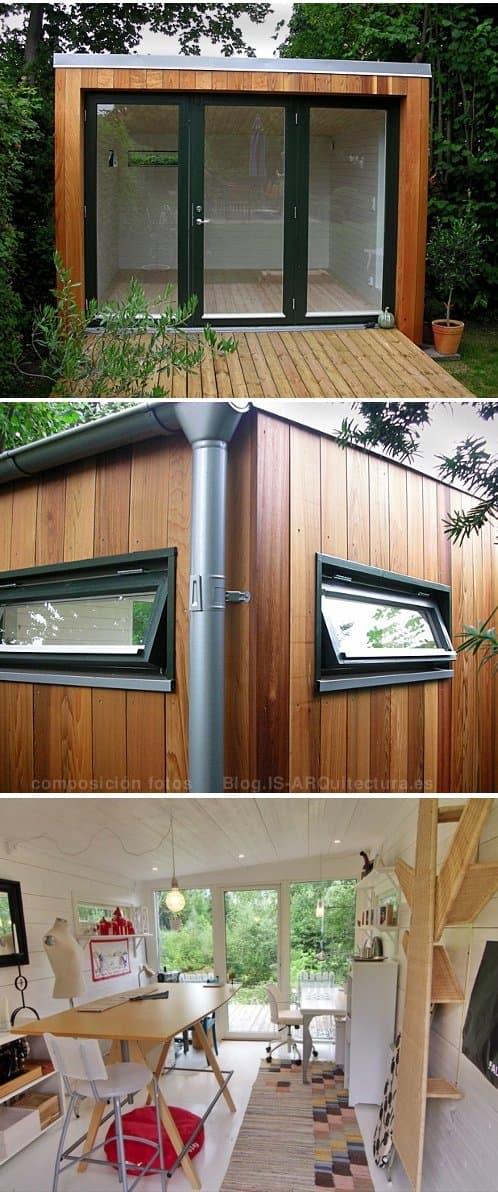 Enkelrum cobertizos suecos prefabricados de madera maciza for Cobertizos de madera prefabricados