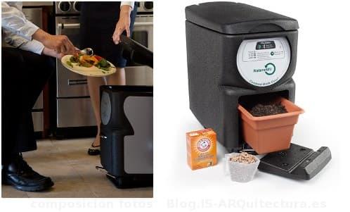 cubo de compostaje doméstico