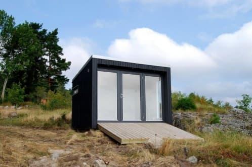 Enkelrum cobertizos suecos prefabricados de madera maciza - Refugios de madera prefabricados ...