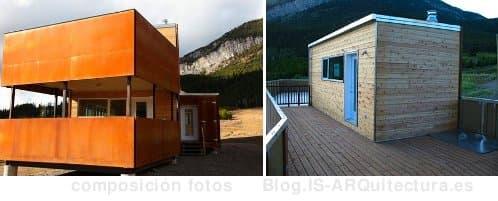 Casa prefabricada de acero corten e interior de madera - Casas de acero prefabricadas ...