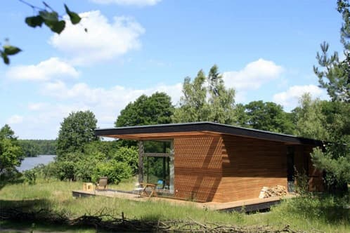 Piu casa prefabricada de madera pensada para las vacaciones - Casa madera prefabricada ...