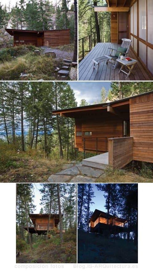 cabaña-madera-lago-flathead fotos del exterior