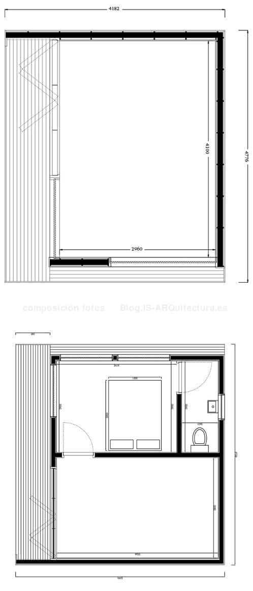 planos estudio-jardin-19m2-37m2