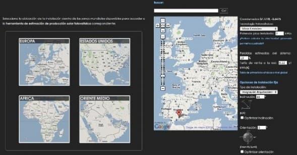 Herramienta web de estimación fotovoltaica