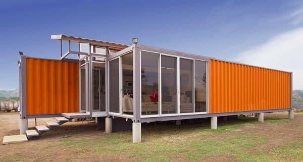 Casa de 2 contenedores de 40 pies - Casa de contenedores ...