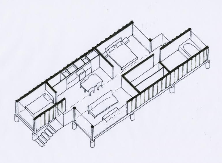 Casa de 2 contenedores de 40 pies - Contenedores usados para vivienda ...