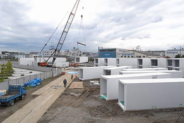 Bayside Marina hotel de contenedores de carga, montaje