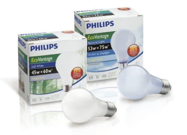 bombillas de bajo consumo EcoVantage-Philips