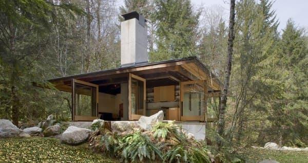 cabaña Tye River madera-hormigon
