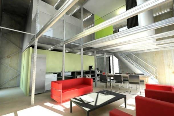 interior prototipo casa E-Cube