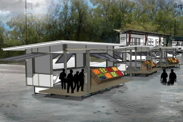 casas flotantes contra las inundaciones