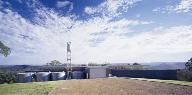 Bush cabaña autosuficiente en Australia