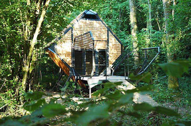 cabaña de madera Le_Nichoir