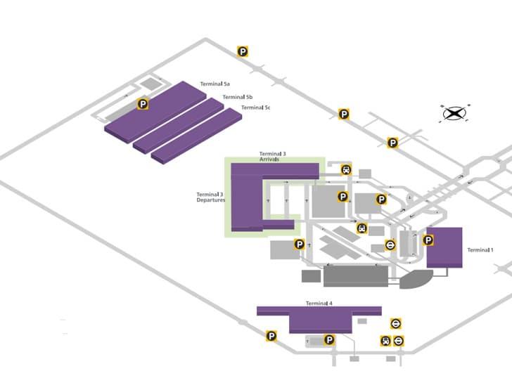 Plano del aeropuerto de Heathrow