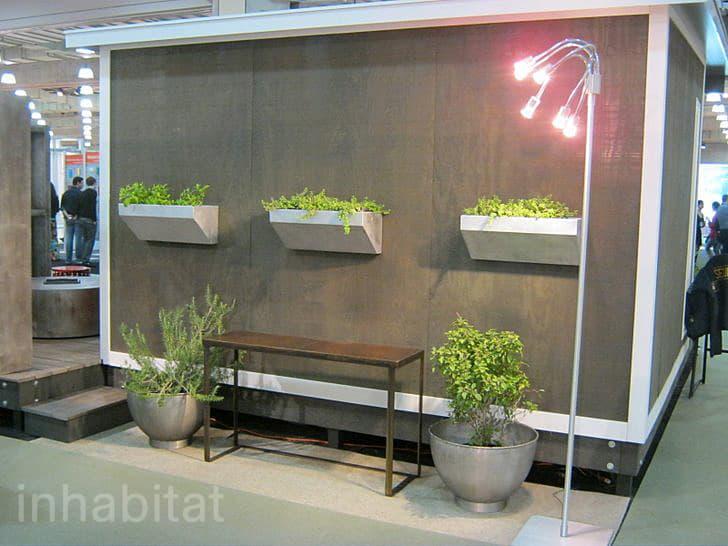 jardineras en fachada cobertizo