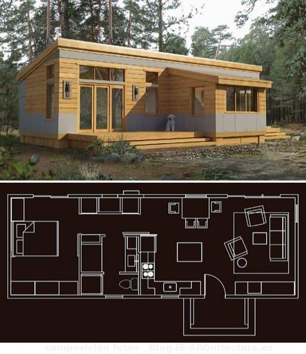 Modelos greenpods de casas prefabricadas for Casas prefabricadas pequenas